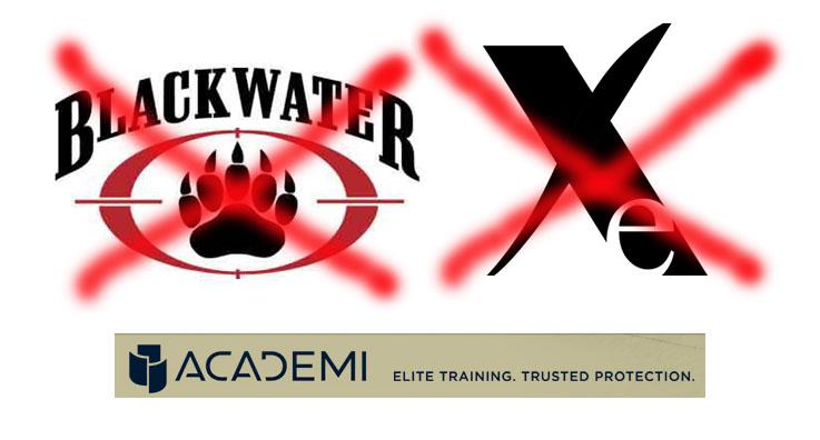 monde - Des citoyens Américains expliquent pourquoi le monde déteste les Etats-Unis Blackwater_xe_academi_logo
